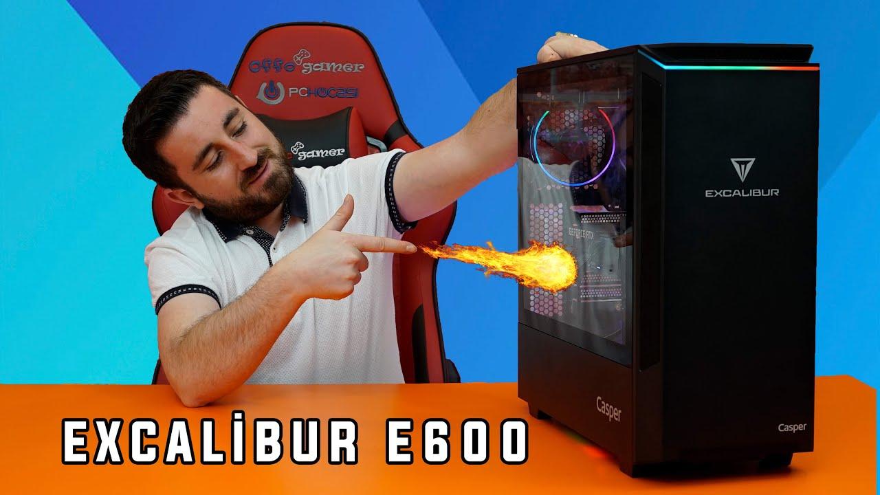 Tasarımı ile dikkat çeken Excalibur E600, PC Hocası TV YouTube ekibi tarafından mercek altında. Göz alıcı tasarımı ve 64 GB RAM ile karşınıza gelen E600, RTX3060 ekran kartı ile durdurulamaz bir güç! Excalibur Oyunda Güç Budur!
