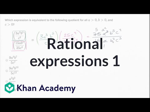 Operations with rational expressions — Basic example