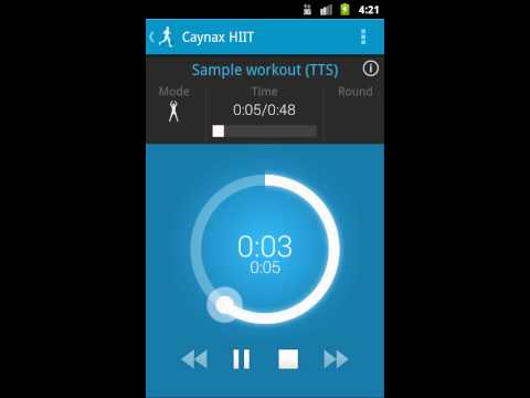 Video of HIIT - interval training timer