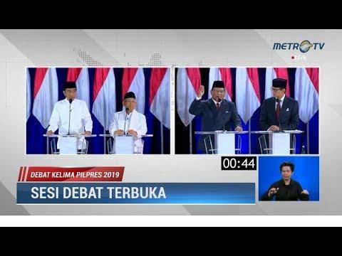 Debat Kelima Pilpres Part 5: Panas! Saling 'Serang' Soal BUMN, Freeport & Kekayaan Prabowo-Sandi