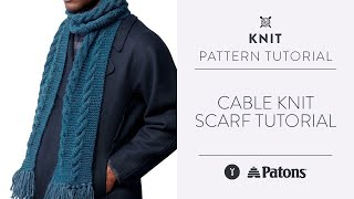 Cable Knit Scarf Tutorial
