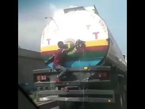 Video of a young boy battling fuel      YabaLeftOnline com