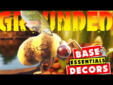 GROUNDED Bees! BASE Items You Need Plus All the Decorations And Future Items!