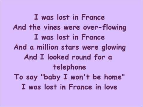 Lost in France- Lyrics Bonnie Tyler