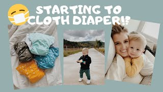 starting cloth diapering & what we're doing to stay busy at home