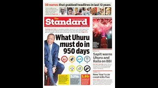 What Uhuru must do in 950 days before he leaves office in 2022 | PRESS REVIEW