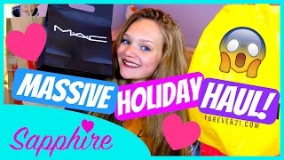MASSIVE USA HOLIDAY HAUL! | Forever 21, Disney, MAC, Justice + More!
