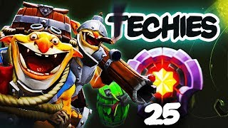 FIRST LEVEL 25 TECHIES Divine Rank - Dota 2 EPIC Gameplay Compilation