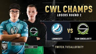 Luminosity vs Team Singularity | CWL Champs 2019 | Day 4