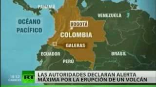 El volcán Galeras entra en erupción en Colombia