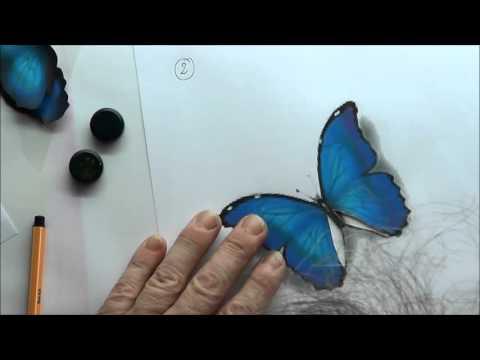 airbrush schablonen zum ausdrucken - der Schmetterling