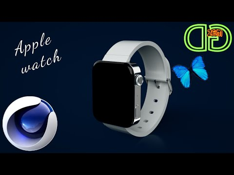 Animation | Cinema 4D | Apple Watch with a flying butterfly