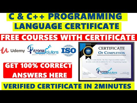 C Programming Language Free Certificate | Free Courses | C & C++ Free Certification within 2 minute