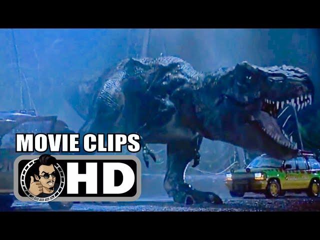 JURASSIC PARK Movie Clips - All T Rex Scenes (1993