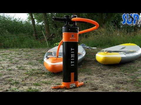 ITIWIT Triple-Action Handpumpe im Test: Die BESTE und SCHNELLSTE SUP-Pumpe von Decathlon??