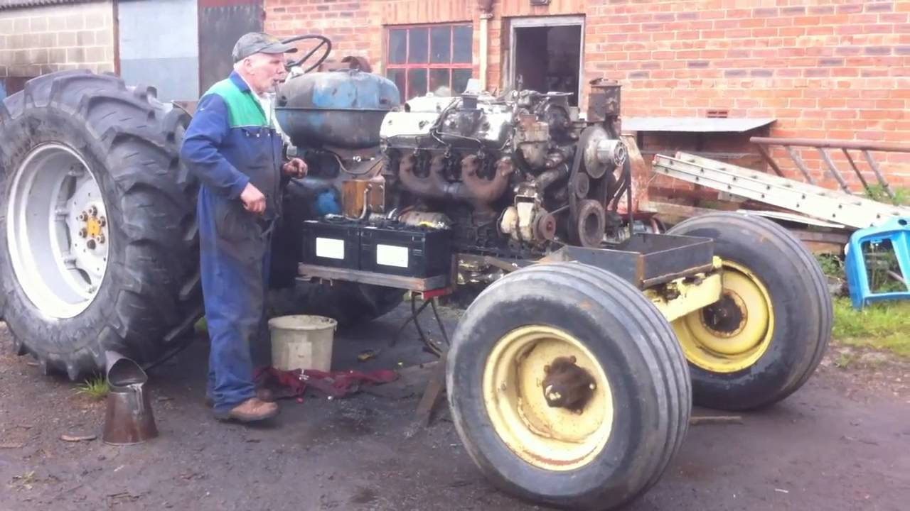 Fordson Major V8 Conversion First Start In Tractor Ryan Cole Ford 8n Download Youtube Thumbnail