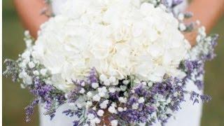 Babys Breath And Lavender Wedding Bouquet