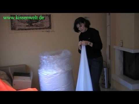 www.kissenwelt.de Sitzsack richtig auspacken.