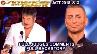 Aaron Crow Judges Comments & FULL BACKSTORY America's Got Talent 2018 Auditions
