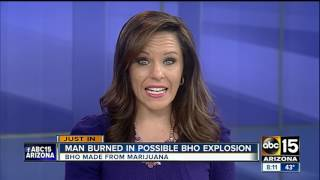 Man severely injured in possible butane hash oil explosion
