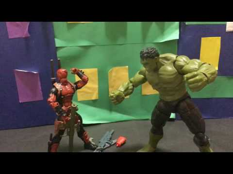 deadpool vs hulk stop motion