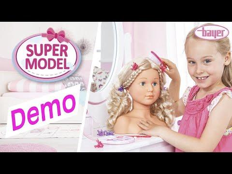 Schminkkopf – Frisierkopf – Super Model - Demo - Bayer Design - Schminken und Frisieren