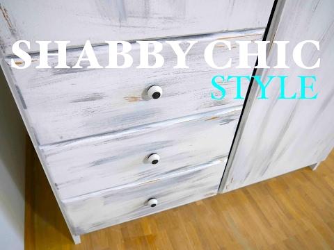 DIY Anleitung ✘ Schrank im Shabby Shic Style streichen ✘ Schritt für Schritt