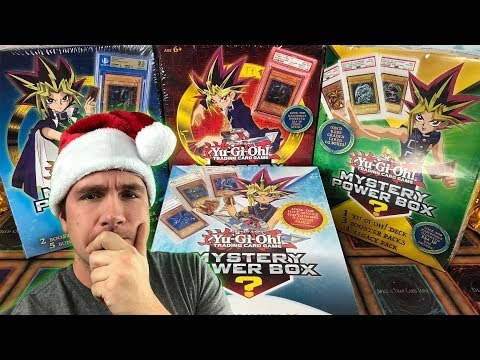 YUGIOH MYSTERY POWER BOX'S! Graded Cards? Which is the Best to Buy? Review Opening / Unboxing!