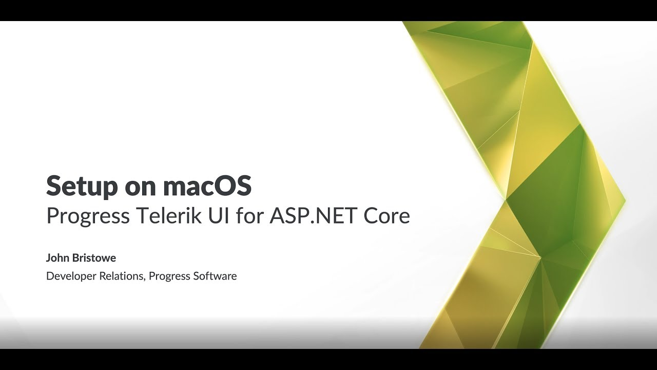 Getting Started with Telerik UI for ASP.NET Core on macOS