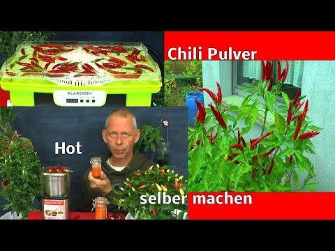 Chili Pulver Gewürz selber herstellen mit einer Gewürz und Kaffee Mühle