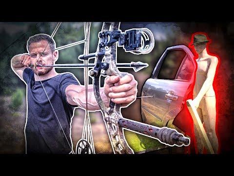 ÜBERLEBT man ein SCHUSS hinter einer AUTOTÜR? Compoundbogen vs. Armbrust   Fritz Meinecke