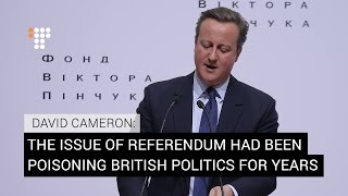 """'It Was The Right Thing To Do"""": Former UK PM About the Referendum On 'Brexit'"""