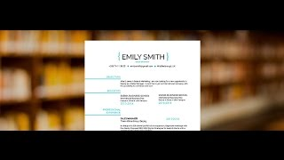 "Resume examples ""Smily"" - by Mycvfactory"