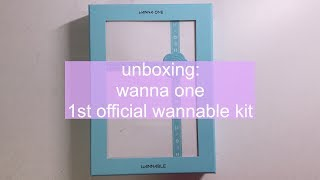 [ UNBOXING ] wanna one 워너원 1st official wannable kit 워너블 1기