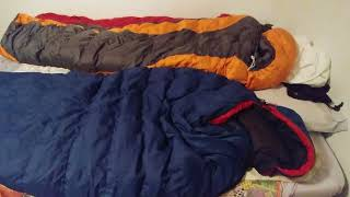 North Face Vs Marmot Down Sleeping Bag Comparison