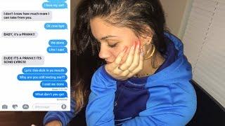 LYRIC PRANK TURNS INTO A BREAK UP PRANK ON BOYFRIEND!!!  (CHERISH - UNAPPRECIATED)