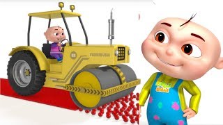 Learn Colors With Road Roller | Colour Learning For Kids | Videos For Toddlers