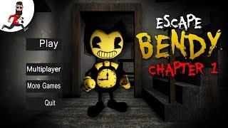 ПОБЕГ ИЗ ДОМА БЕНДИ ► Escape Bendy House  ► 1 глава - Прохождение