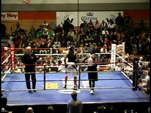 Amateur fight during the Chicago Golden Gloves. The only amateur fight I've ever been knocked down in but see how I come back!!