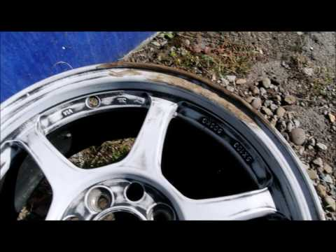 Project Saturn Wagon - Refinishing aftermarket alloy wheels