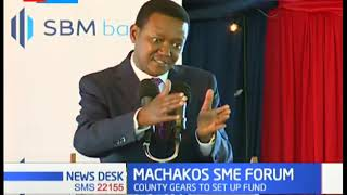 Governor Alfred Mutua during the Machakos SME Forum 2019