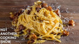 the EASY METHOD for making PERFECT SPAGHETTI CARBONARA