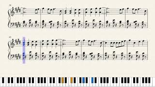 Shape of you - piano - sheet music