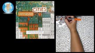Fantastic Cities By Steve McDonald Adult Coloring Book Traffic Jam