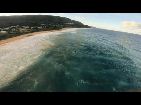 Drone footage of Wombarra beach NSW