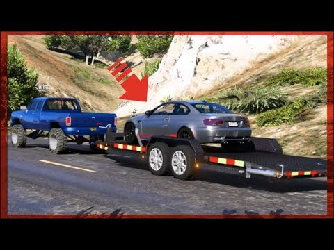 GTA 5 FiveM Trailer Mod - Hauling Drift Cars On Trailers - Does It Work??