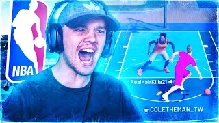 GAME OF THE YEAR VS NBA PLAYER 😱 HE COULDN'T GUARD ME! BEST DRIBBLE MOVES IN NBA 2K19!