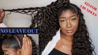 QUICK $25 Back To School Half Up Half Down Hairstyle (NO LEAVE OUT)