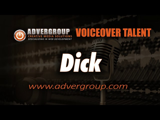 DICK male VOICEOVER  ..