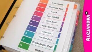 Recipe Organizer: How To Organize Recipes In A Binder